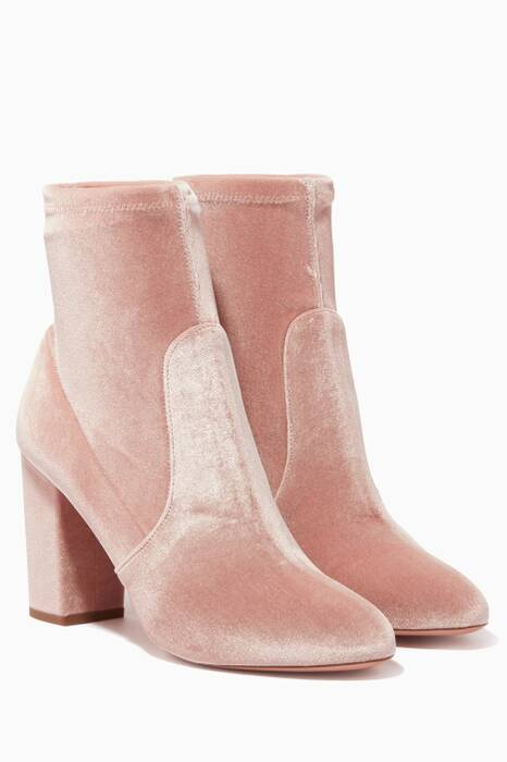 Light-Pink So Me Velvet Booties
