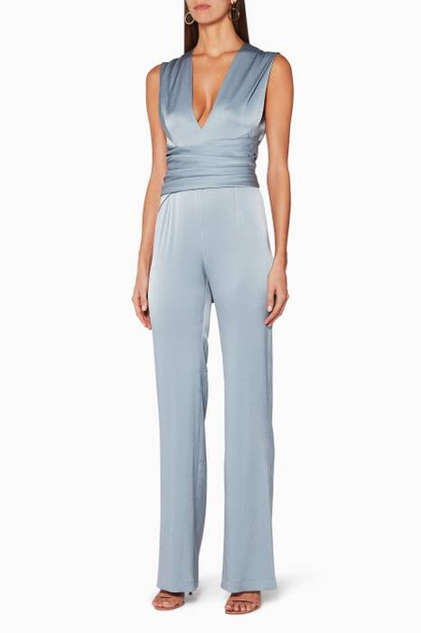 Dove-Grey V-Neck Jumpsuit