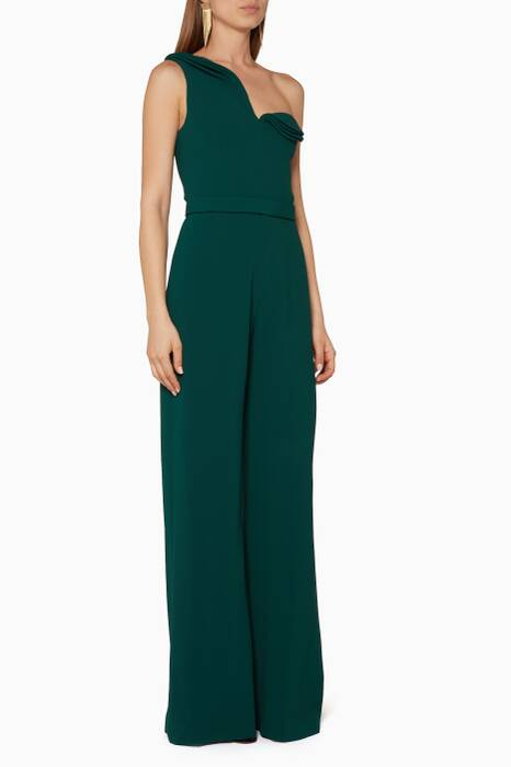 Green One-Shoulder Jumpsuit