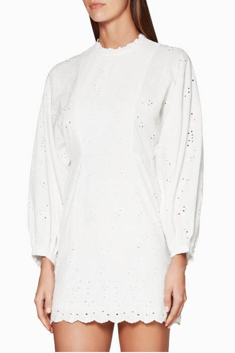 White Embroidered Eva Dress