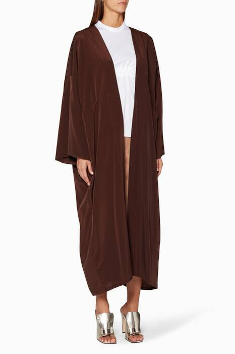Chocolate Brown Abaya with Sheila
