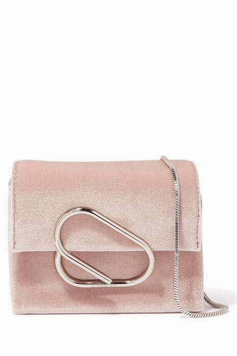Blush Alix Mini Velvet Cross-Body Bag