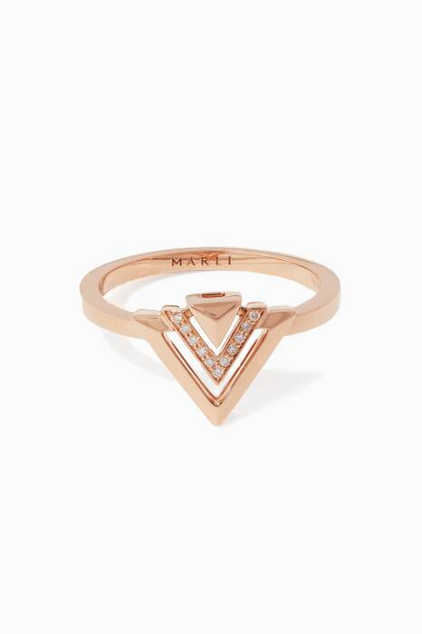 Rose-Gold Avant Ring
