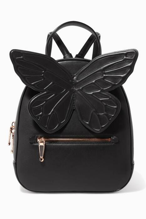 Black Kiko Leather Backpack