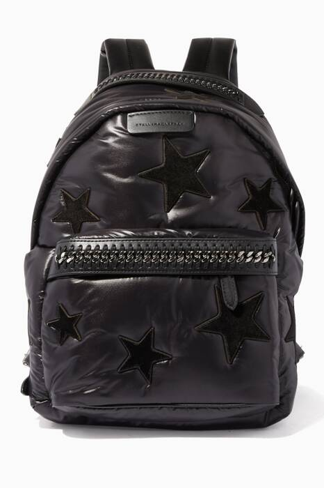 Black Falabella Velvet Backpack