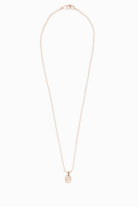 Rose-Gold Running G Necklace