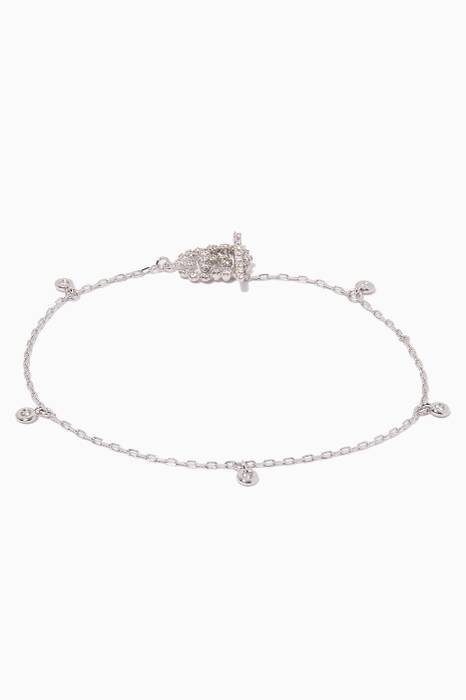 White-Gold & Diamond Double G Bracelet