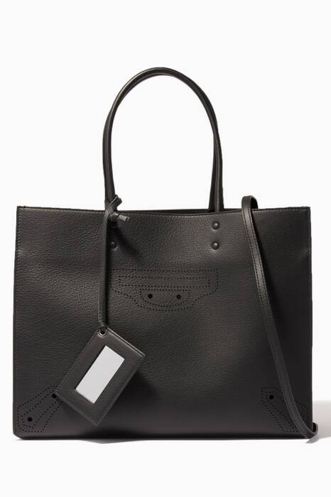Black Medium Papier ZA Blackout B4 Tote Bag