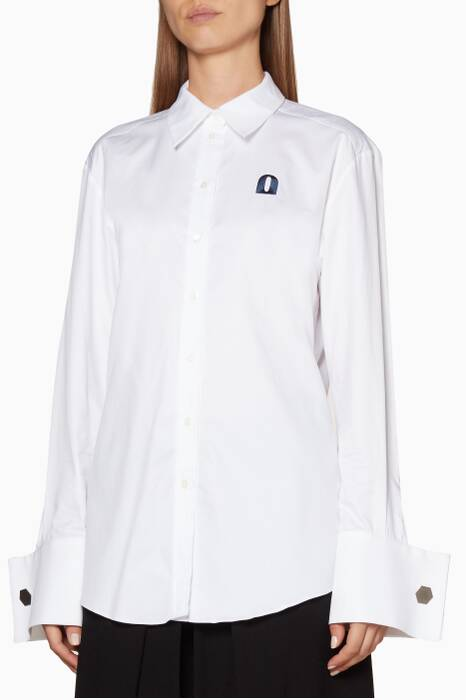 White Oversized Devon Shirt