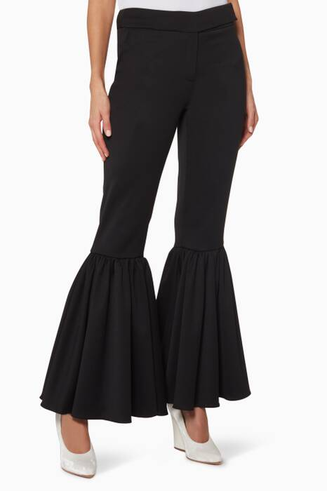 Black Kick-Flare Ariel Pants