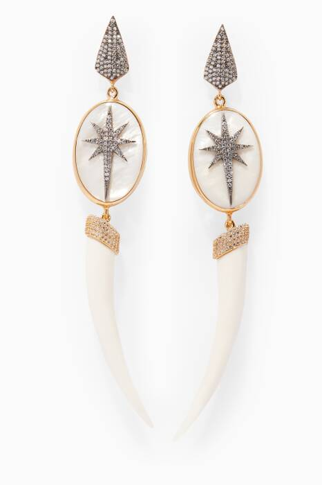 Silver Zirconia Star Earrings
