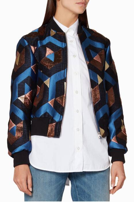 Blue-Black Villa Jacket