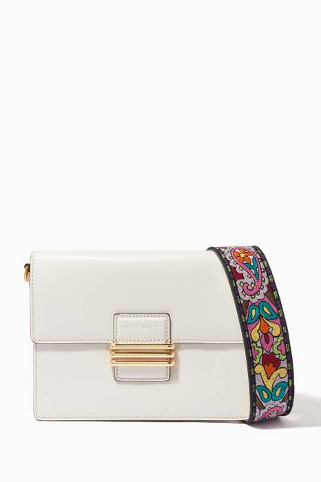 White Fold-Over Shoulder Bag