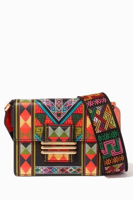 Rainbow-Coloured Printed Medium Shoulder Bag