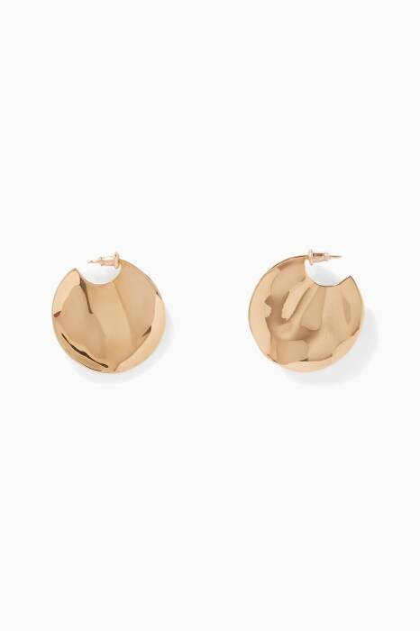 Gold-Plated Silver Large Wavee Earrings