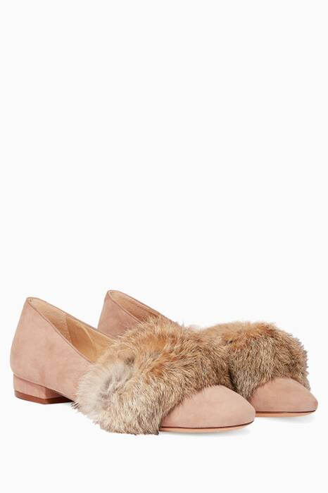 Light-Beige Fany Suede Ballerinas
