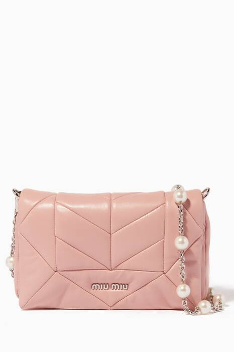 Orchid Quilted leather Shoulder Bag