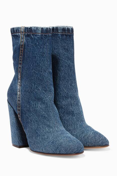 Blue Denim Boots
