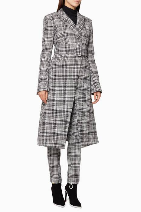 Grey Galles Notch Lapel Coat