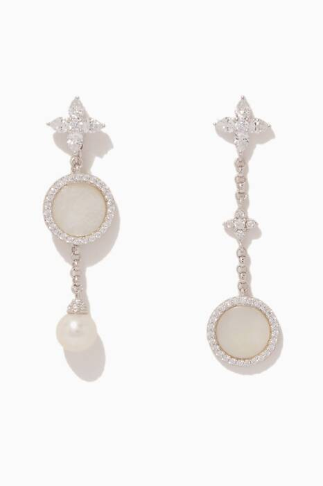 Silver & Mother-Of-Pearl Drop Earrings