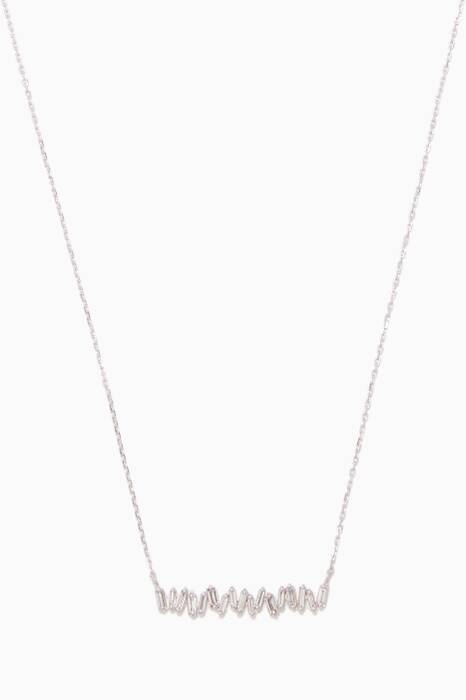 White-Gold & Baguette Diamond Necklace