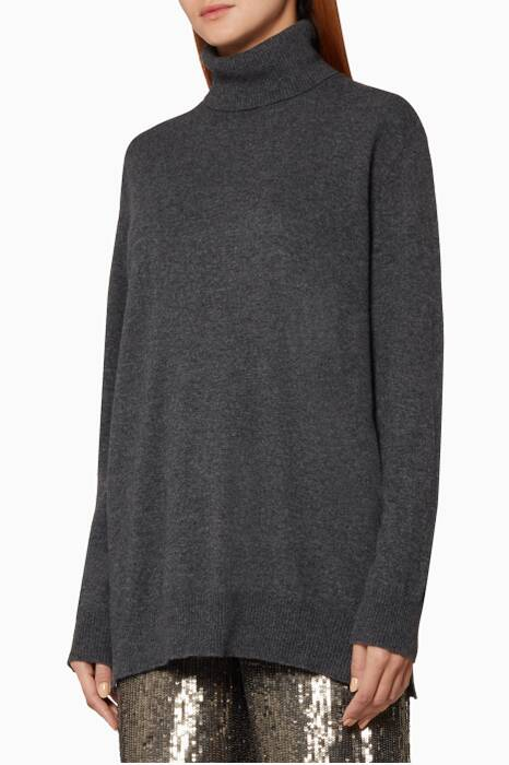 Grey Liz High-Neck Sweater