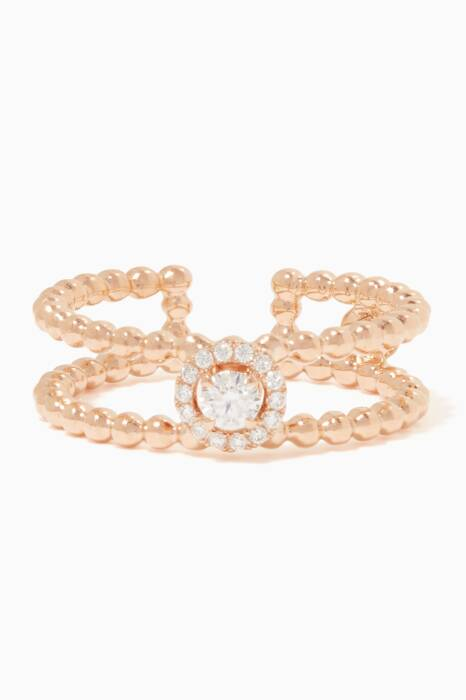 Rose-Gold and Diamond Rock Candy Cuff Ring