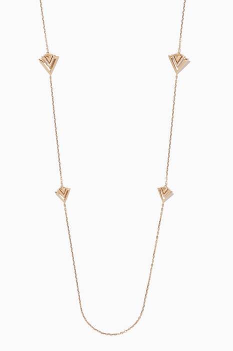Yellow-Gold Diamond Avant Necklace