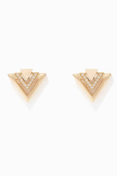 Yellow-Gold And Diamond Avant Earrings