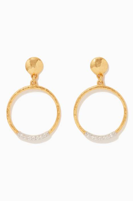 Gold & White-Gold Delicate Geo Earrings
