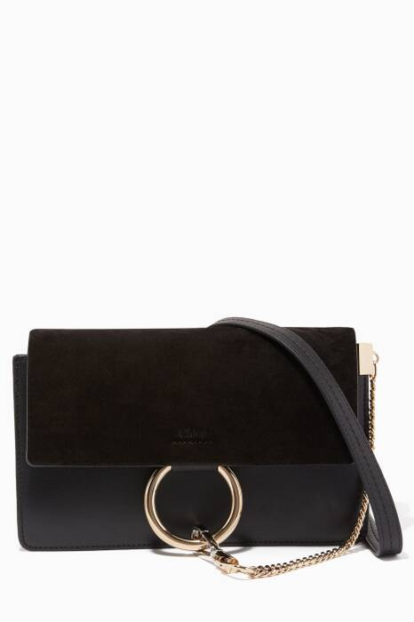 Black Small Faye Shoulder Bag