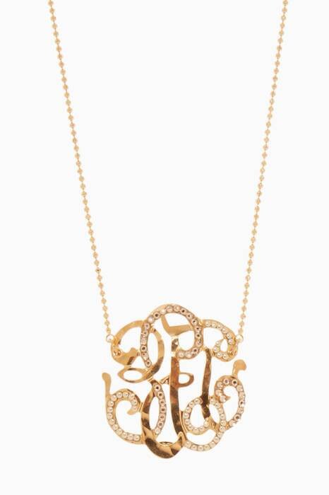 Gold Collier Arabesque Necklace