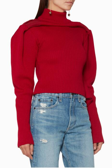 Red Long-Sleeve Sweater