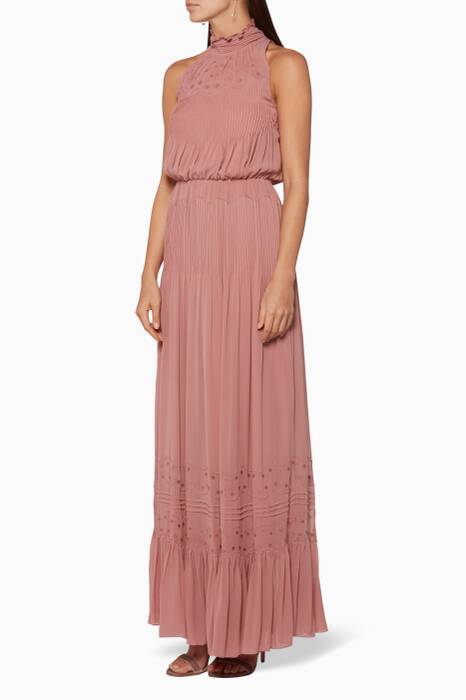 Light-Pink Phillipa Embroidered Gown