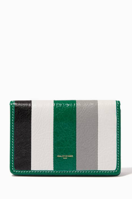 Multi-Colour Striped Bazar Card Case