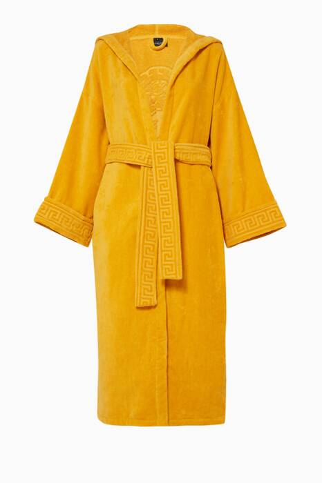 Yellow Greek Key Bathrobe