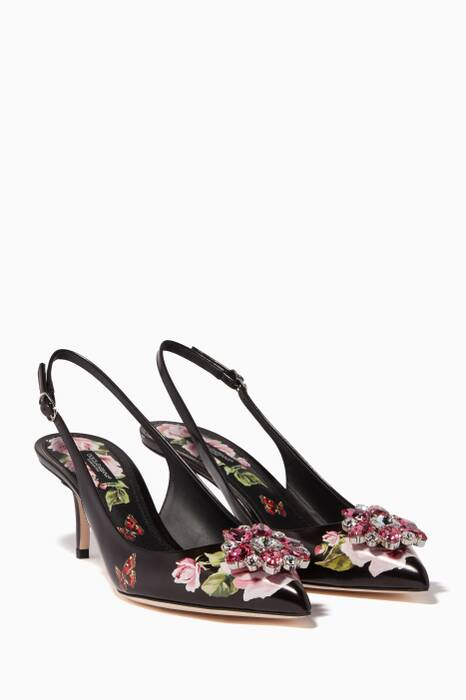 Black Rose Bellucci Slingback Sandals