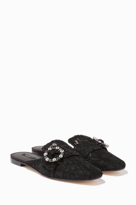 Black Jackie Lace Loafers
