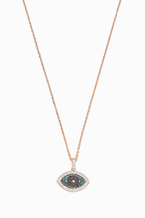 Rose-Gold Eye Light Necklace