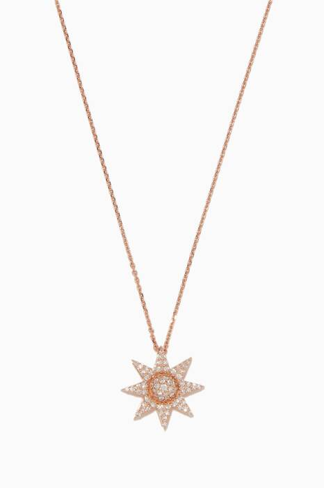 Rose-Gold Venus Star Diamond Necklace