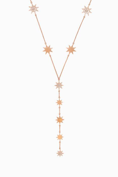 Rose-Gold Venus Stars & Diamond Necklace