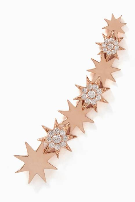 Rose-Gold & Diamond Venus Star Earcuff.