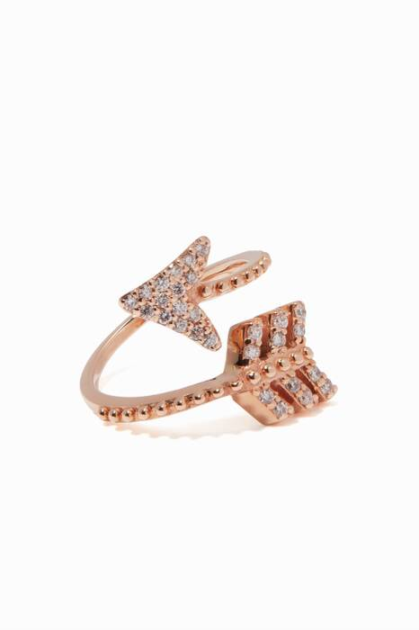 Rose-Gold & Diamond Eros Arrow Midi Ring
