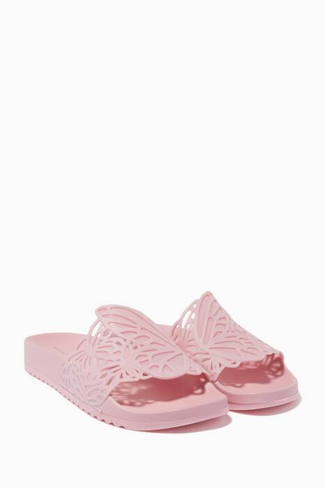 Pastel-Pink Lia Butterfly Slides
