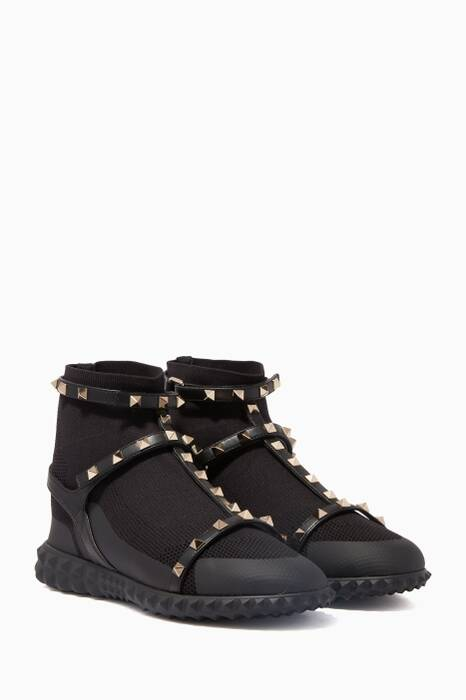 Black Rockstud Bodytech Sneakers