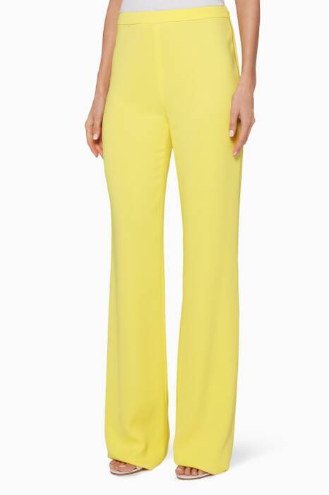 Yellow Wide-Leg Pants