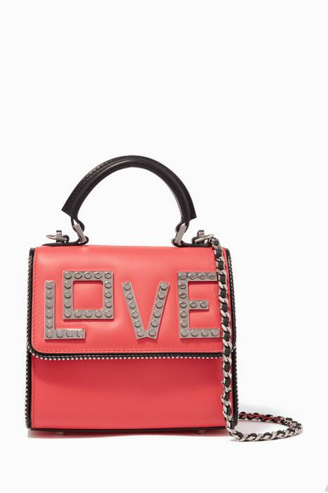 Red Baby Alex Silver Love Interchangeable Bag