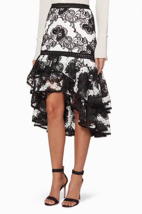 Black & White Halima Skirt