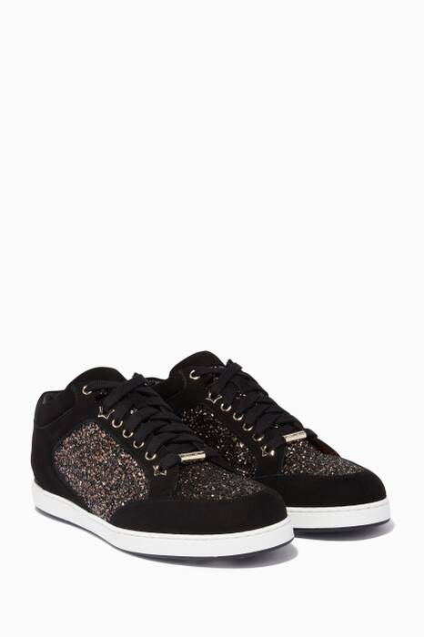 Midnight Glitter & Black Suede Miami Sneakers