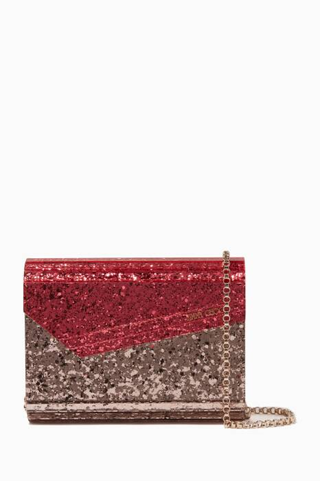 Pink Candy Glitter Clutch Bag